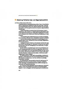 Abteilung Palliative Care und OrganisationsEthik