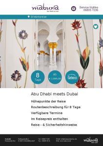 Abu Dhabi meets Dubai