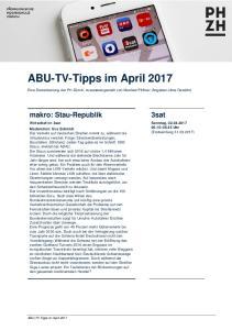 ABU-TV-Tipps im April 2017