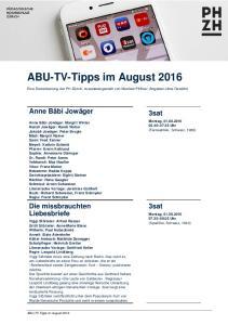 ABU-TV-Tipps im August 2016