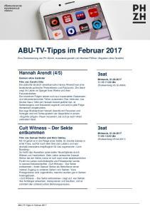 ABU-TV-Tipps im Februar 2017