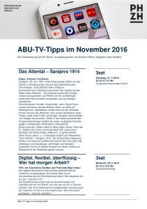 ABU-TV-Tipps im November 2016