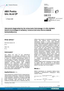ABX Pentra Uric Acid CP