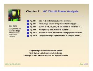 AC Circuit Power Analysis