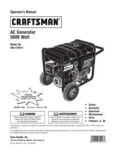AC Generator 5600 Watt