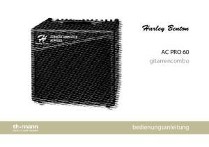 AC PRO 60 gitarrencombo. bedienungsanleitung