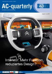 AC-quarterly Informationen aus dem Automobil-Cluster