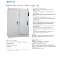 ACA B ADO Interior blanco y exterior con acabado gris ANSI 61 sobre superficies pretratadas. Los paneles tienen acabado blanco o conductor