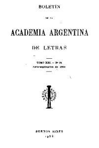 ACA DEl\fIA ARGENTINA