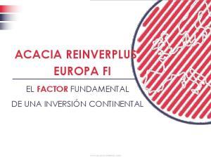 ACACIA REINVERPLUS EUROPA FI