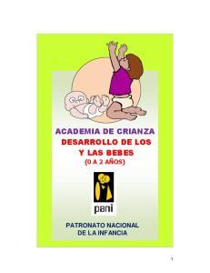 ACADEMIA DE CRIANZA DESARROLLO DE LOS Y LAS BEBES
