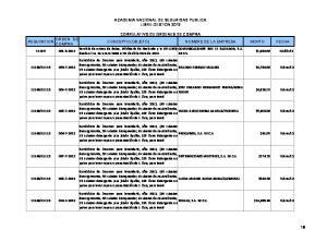 ACADEMIA NACIONAL DE SEGURIDAD PUBLICA LIBRE GESTION 2012