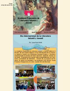 Academia Panameña de Literatura Infantil y Juvenil. Día Internacional de la Literatura Infantil y Juvenil