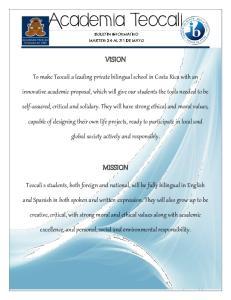 Academia Teocali VISION MISSION