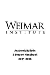 Academic Bulletin & Student Handbook