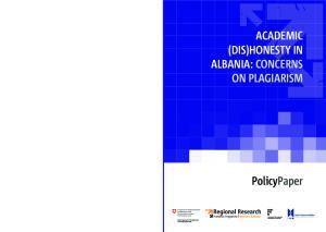 ACADEMIC (DIS)HONESTY IN ALBANIA: CONCERNS ON PLAGIARISM