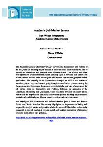 Academic Job Market Survey