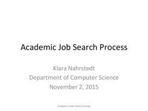 Academic Job Search Process