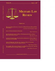 ACADEMIC JOURNAL MILITARY LAW REVIEW VOLUME
