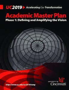 Academic Master Plan: Phase 1