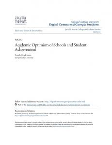 Academic Optimism of Schools and Student Achievement