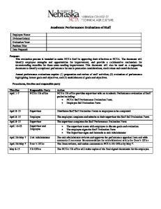 Academic Performance Evaluation of Staff
