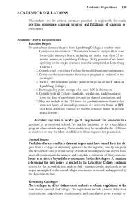 ACADEMIC REGULATIONS. Academic Regulations