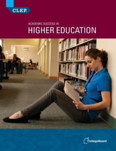 ACADEMIC SUCCESS IN HIGHER EDUCATION