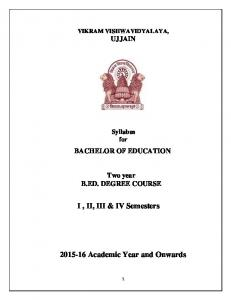 Academic Year and Onwards