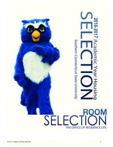 Academic Year Room Selection 1