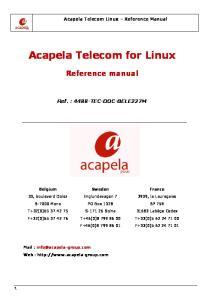 Acapela Telecom for Linux