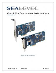 ACB-MP.PCIe Synchronous Serial Interface