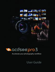 Accelerate your photography workflow. User Guide