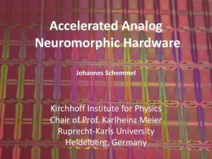 Accelerated Analog Neuromorphic Hardware