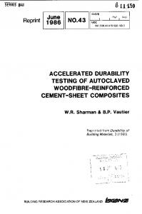 ACCELERATED DURABILITY TESTING OF AUTOCLAVED WOODFIBRE-REINFORCED CEMENT-SHEET COMPOSITES
