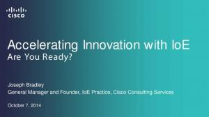 Accelerating Innovation with IoE Are You Ready?