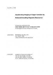 AcceleratingImagingof Organ Function by