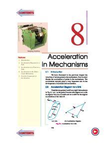 Acceleration in Mechanisms