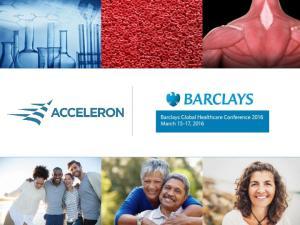 Acceleron Forward-Looking Statements