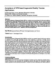 Acceptance of GPS-based Augmented Reality Tourism Applications