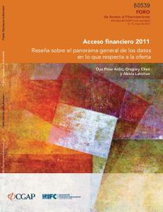 Acceso financiero 2011