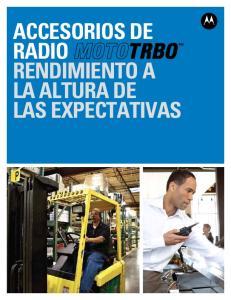 ACCESORIOS DE RADIO RENDIMIENTO A LA ALTURA DE LAS EXPECTATIVAS