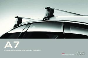 Accesorios Originales Audi: Audi A7 Sportback. Audi Accesorios Originales