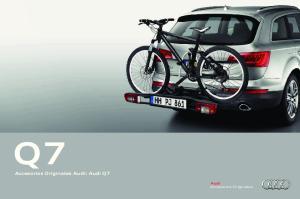Accesorios Originales Audi: Audi Q7. Audi Accesorios Originales