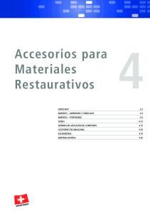 Accesorios para Materiales Restaurativos