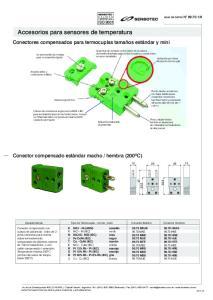 Accesorios para sensores de temperatura
