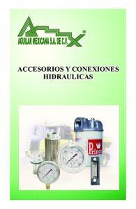 ACCESORIOS Y CONEXIONES HIDRAULICAS