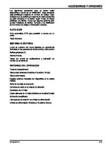 ACCESORIOS Y OPCIONES