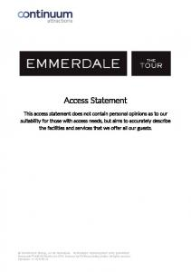 Access Statement. Emmerdale & ITV Studios Ltd Licensed by ITV Broadcasting Limited. All rights reserved
