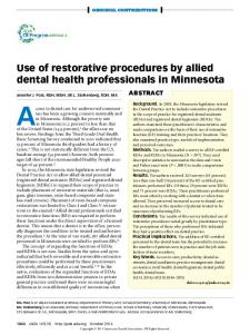 Access to dental care for underserved communities